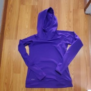 Nike Pro training pull over hoodie
